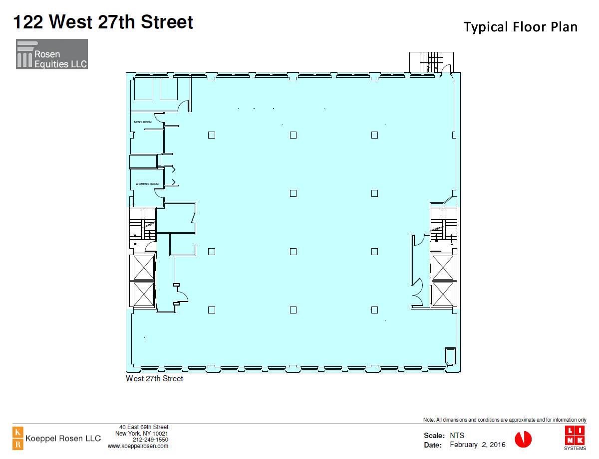 122 West 27th Siteplan
