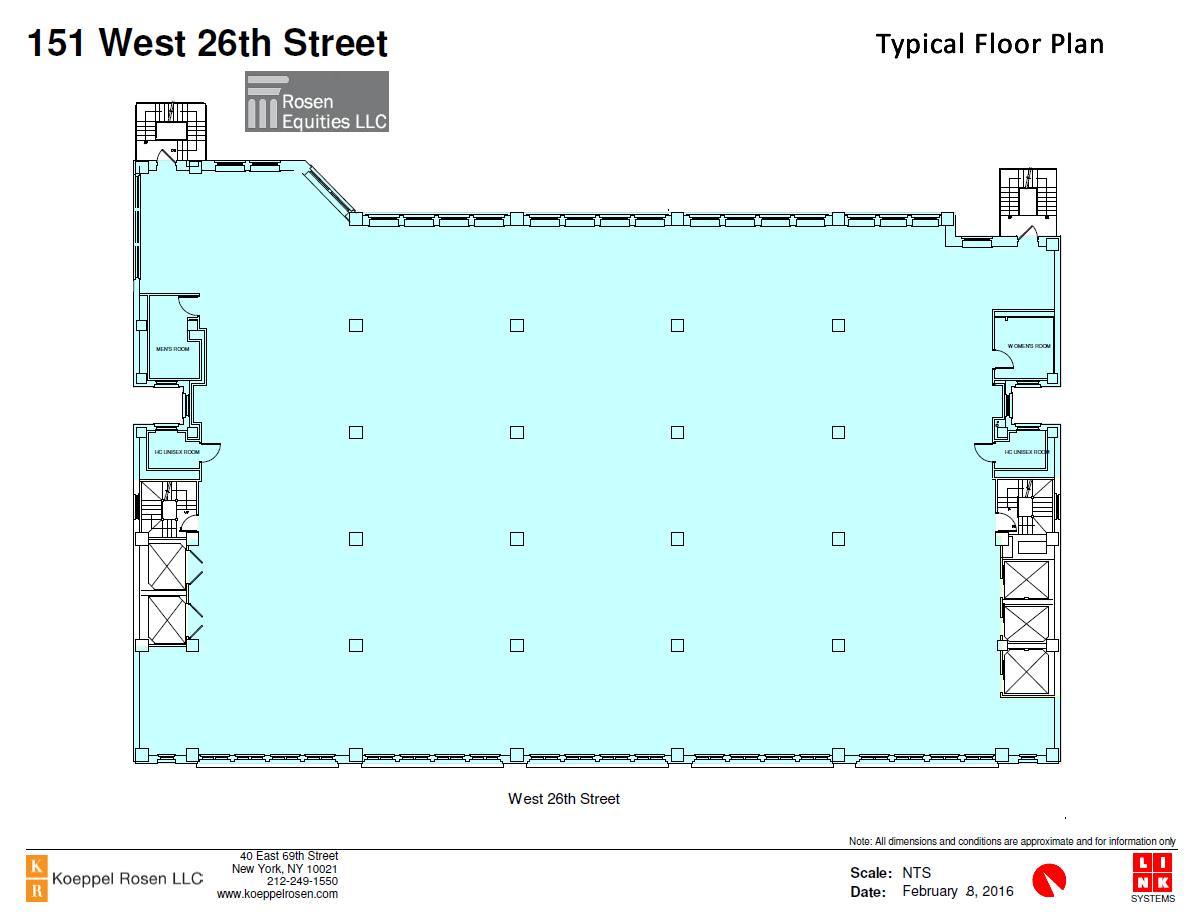 151 West 26th Siteplan