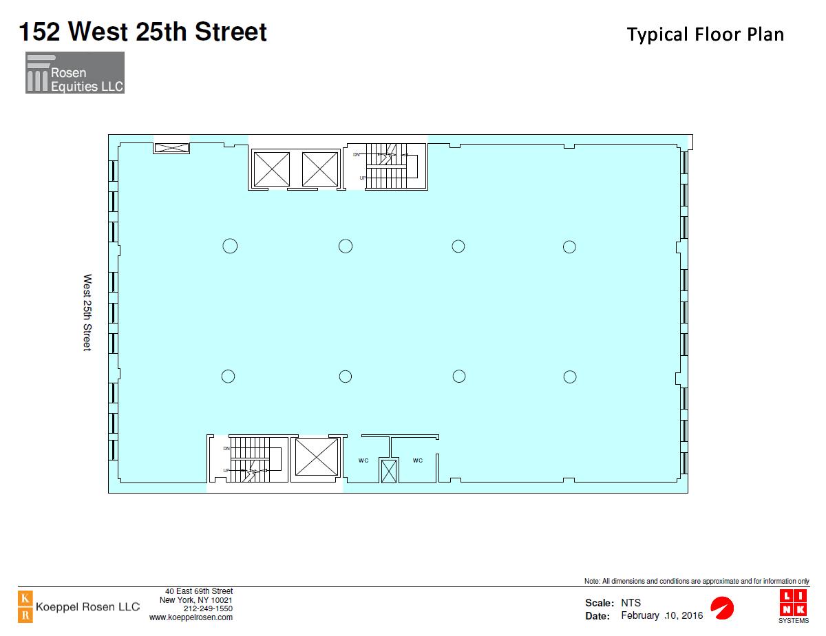 152 West 25th Siteplan