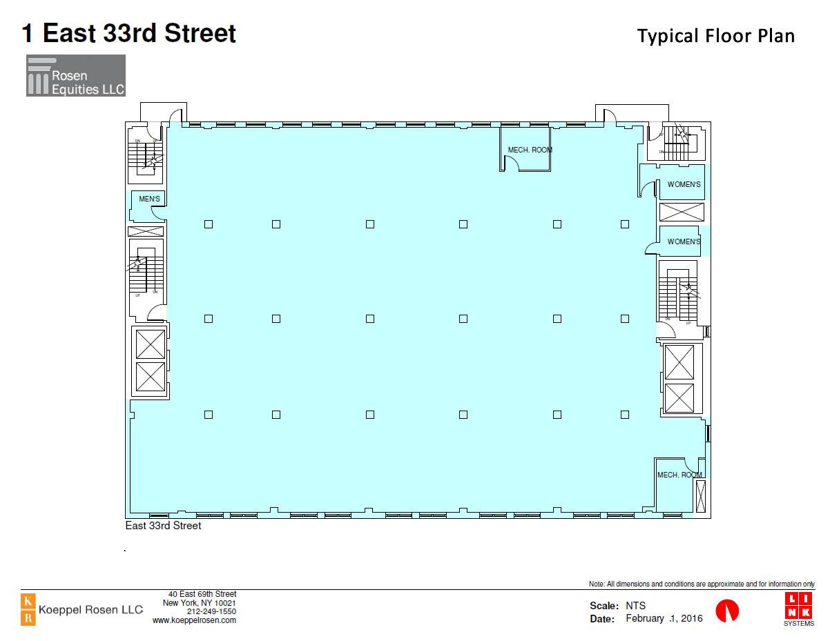 1 East 33rd Siteplan