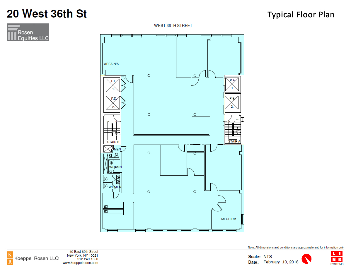 20 West 26th Siteplan