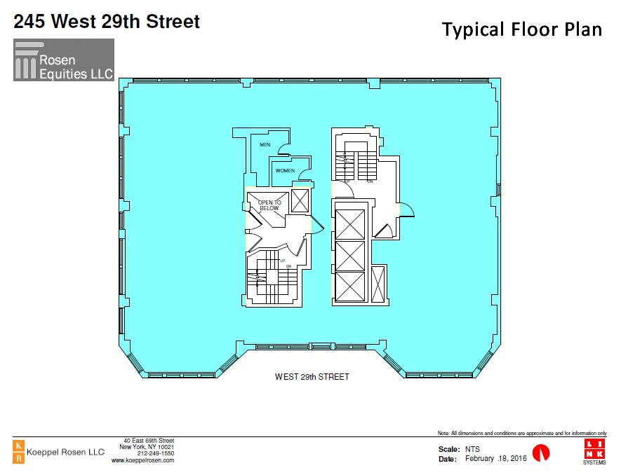 245 West 29th Siteplan