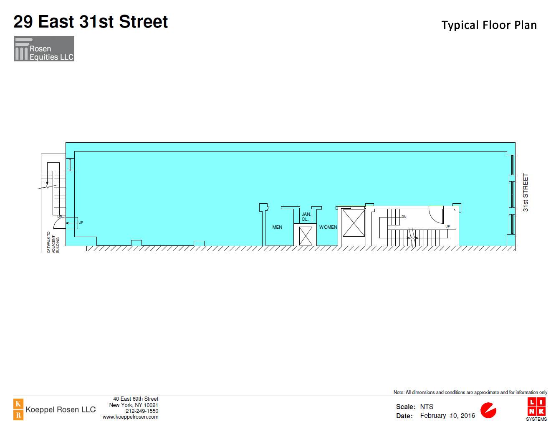 29 East 31st Siteplan