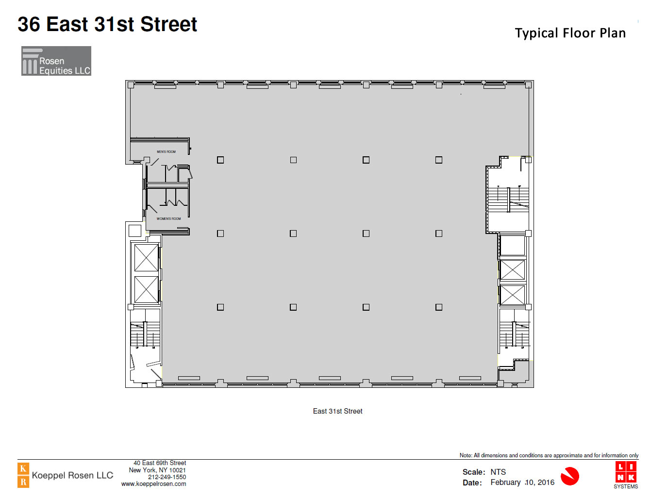 36 East 31st Siteplan