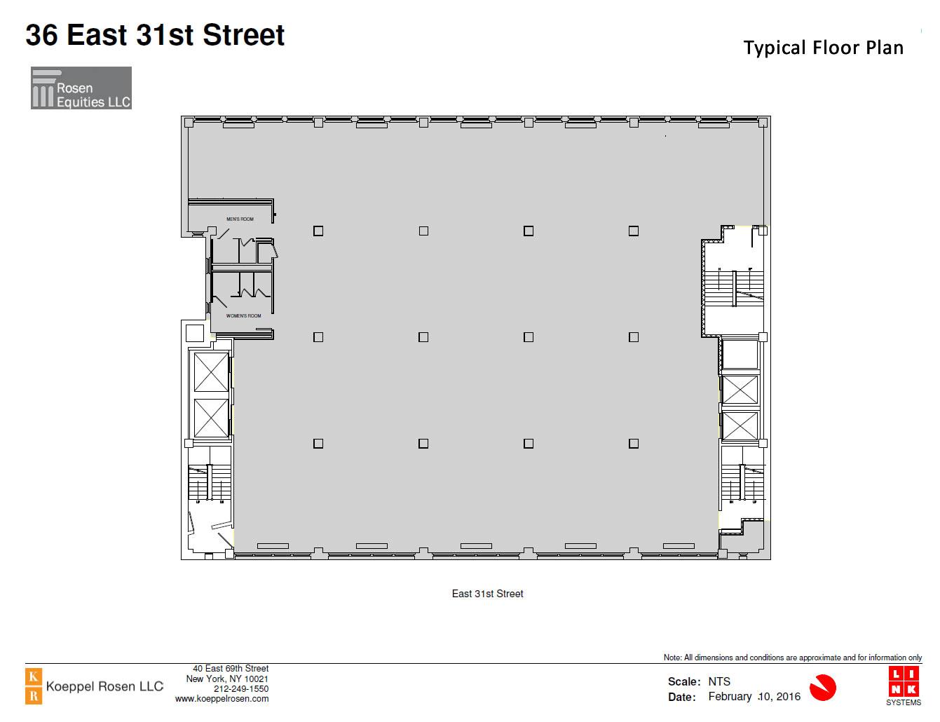 36 East 31st Siteplan
