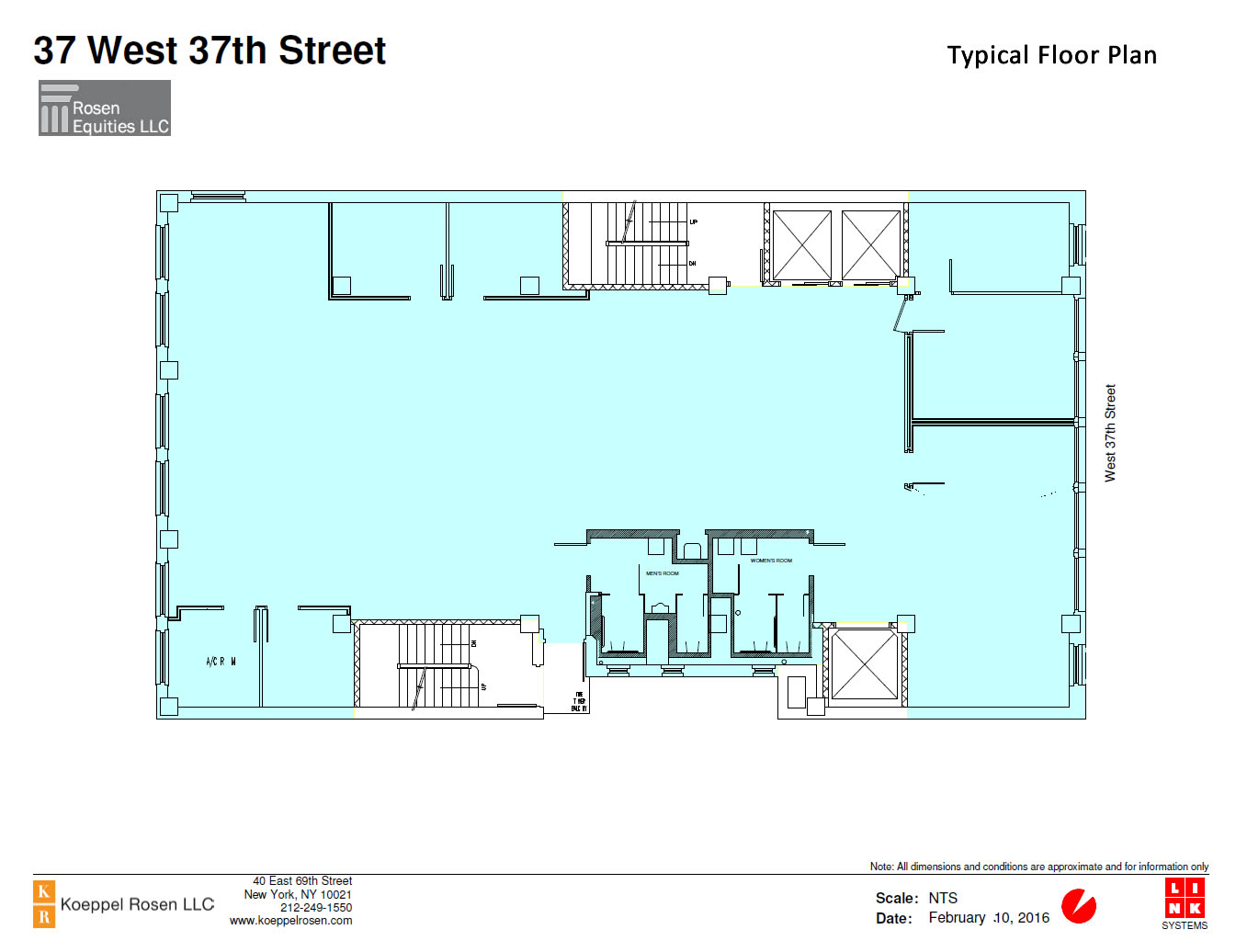 37 West 37th Siteplan