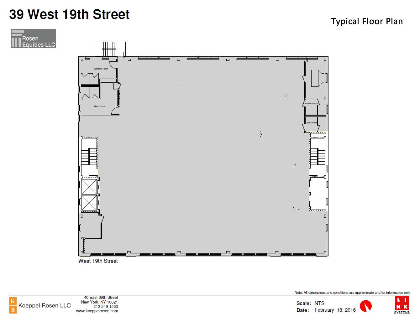 39 West 19th Siteplan