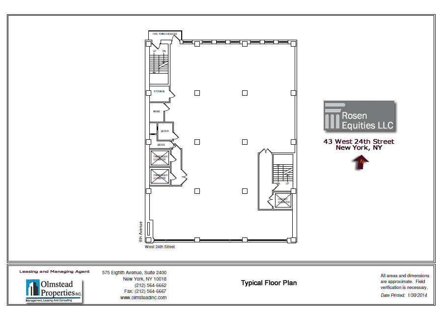 43 West 24th Siteplan