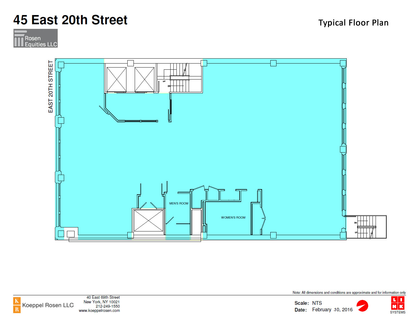 45 East 20th Siteplan