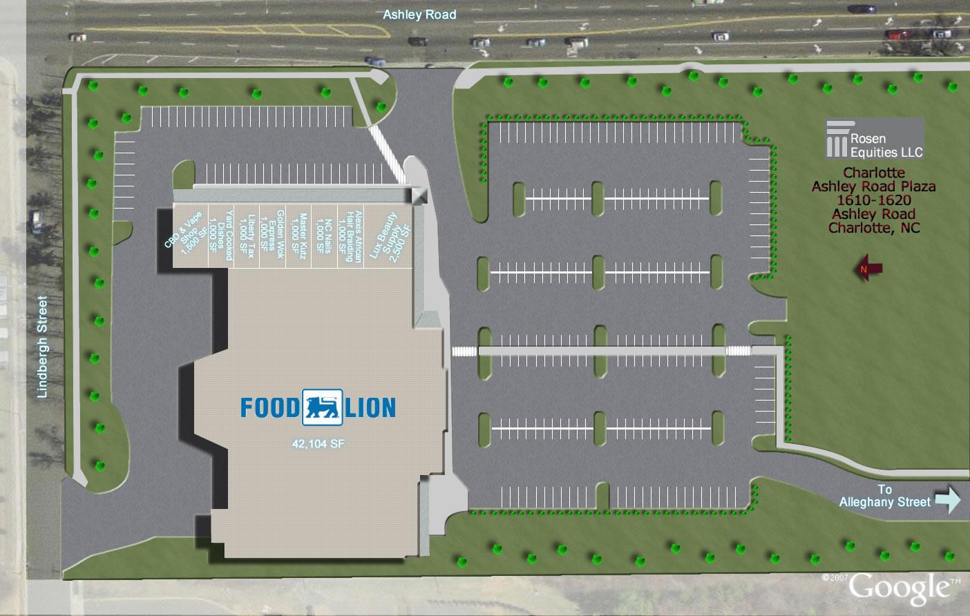 Ashley Road Plaza Siteplan