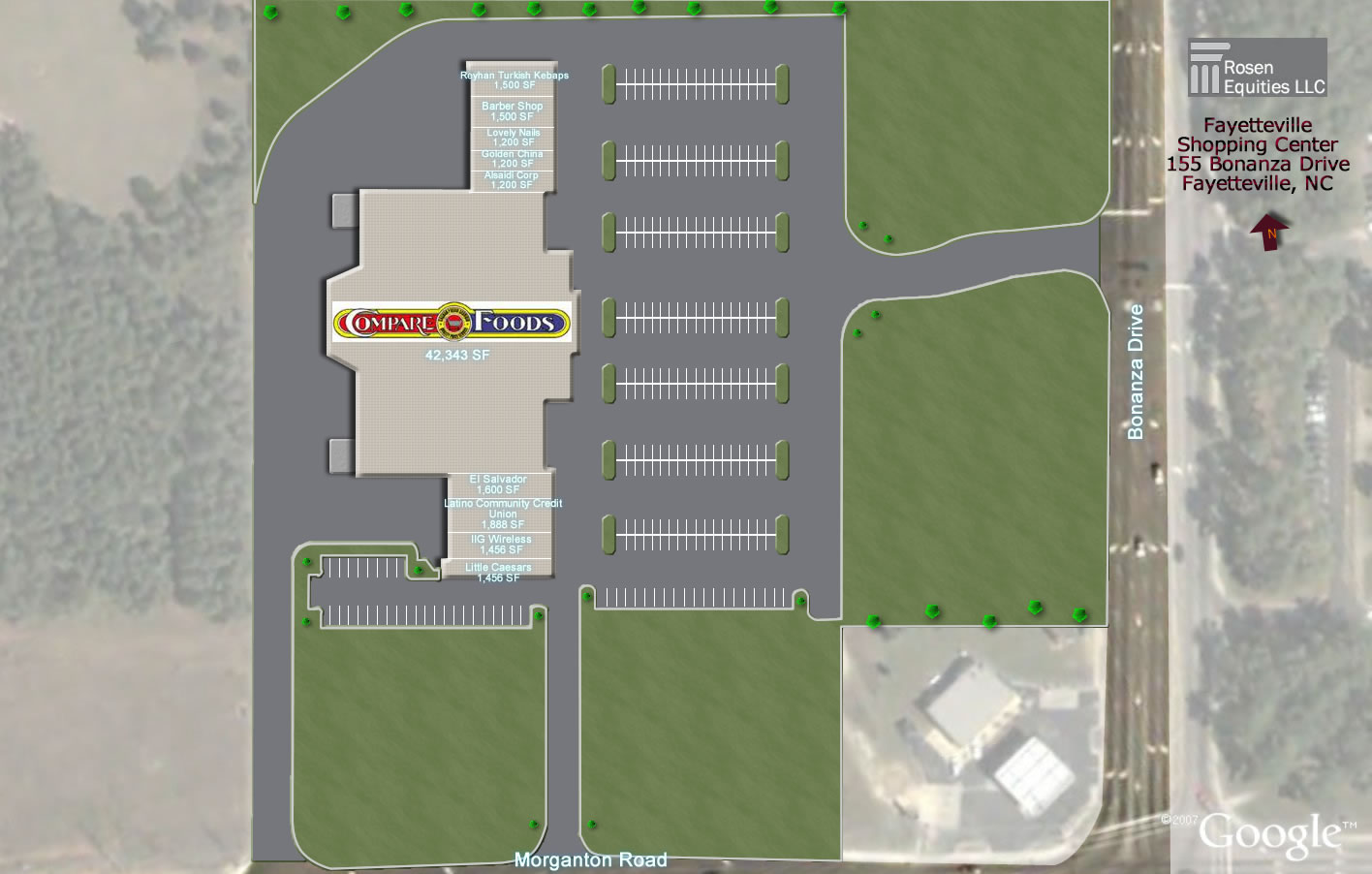 Fayetteville-Compare Foods Center Siteplan