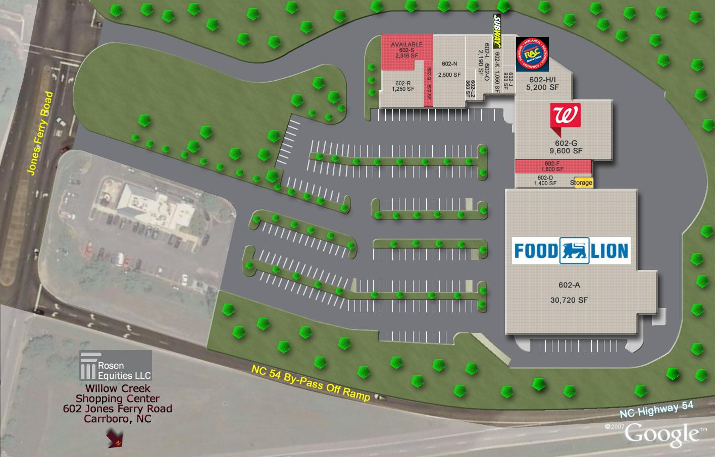 Willow Creek Shopping Center Siteplan