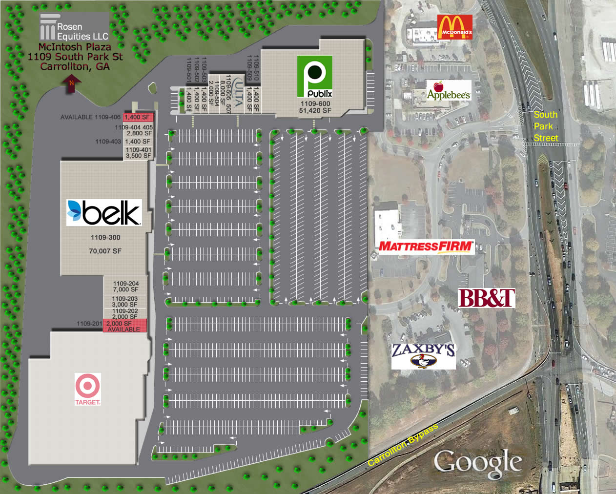 McIntosh Plaza Siteplan