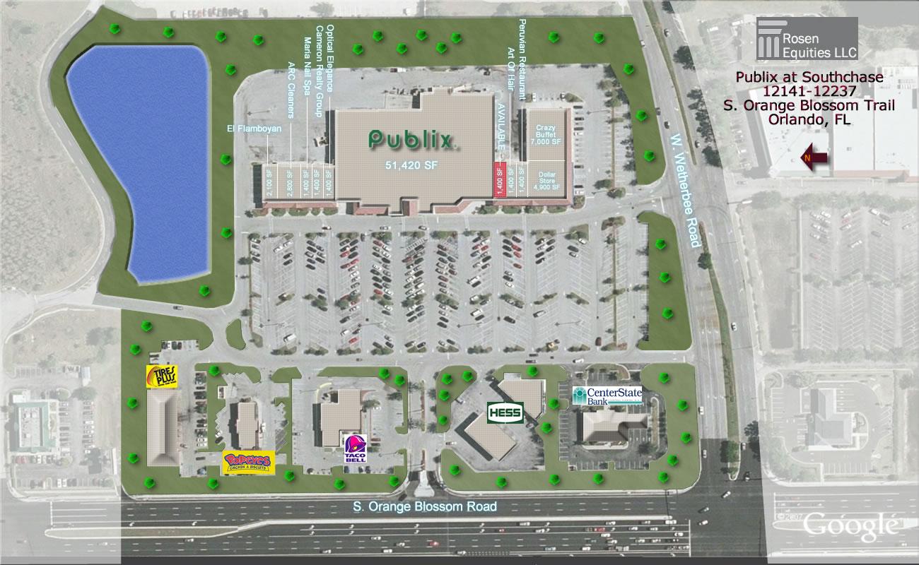 Southchase Shopping Center Siteplan