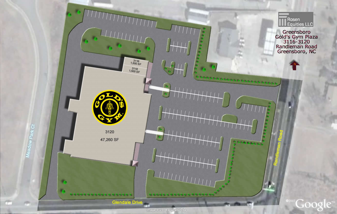 Greensboro Gold's Gym Plaza Siteplan