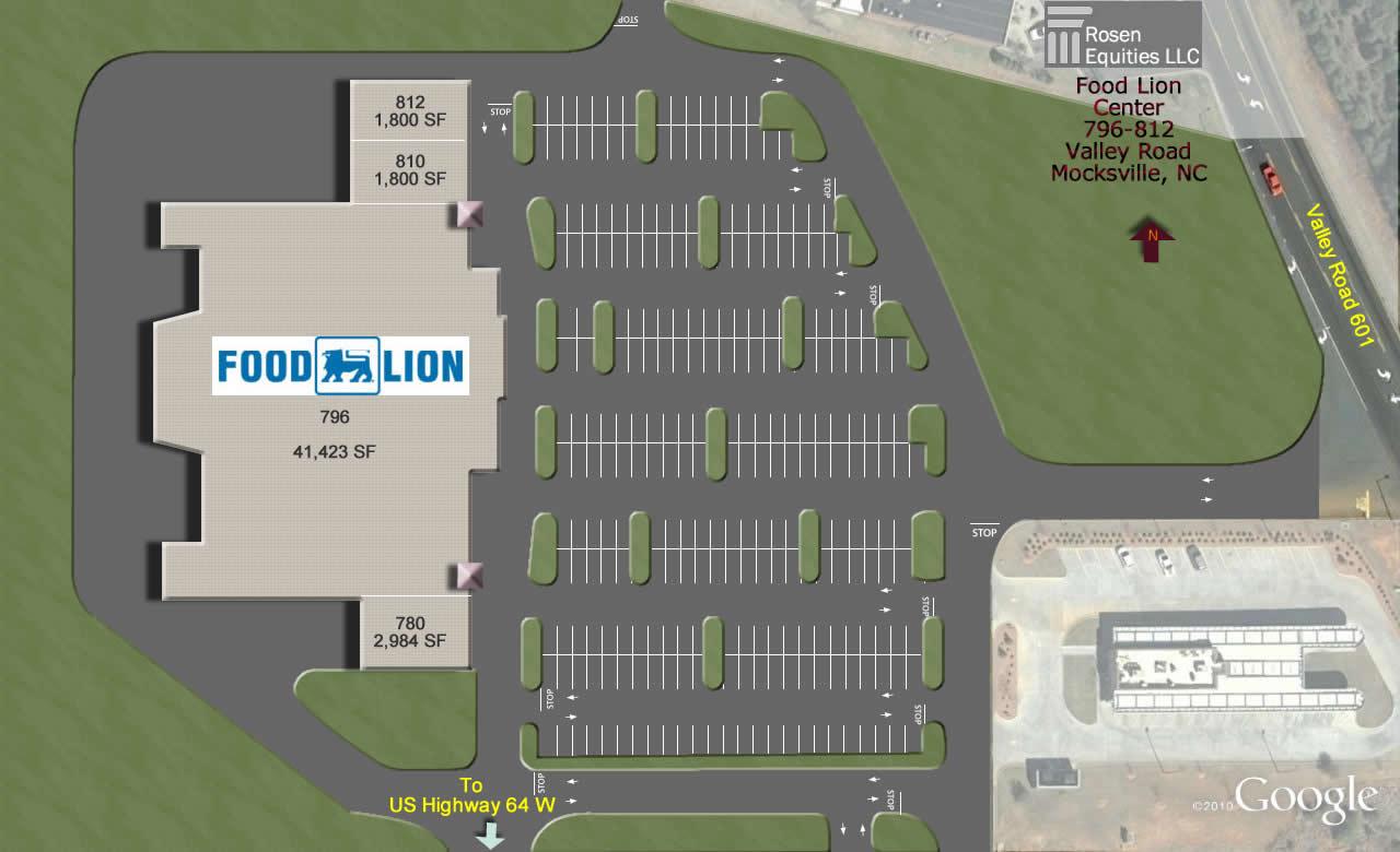 Mocksville Food Lion Center Siteplan