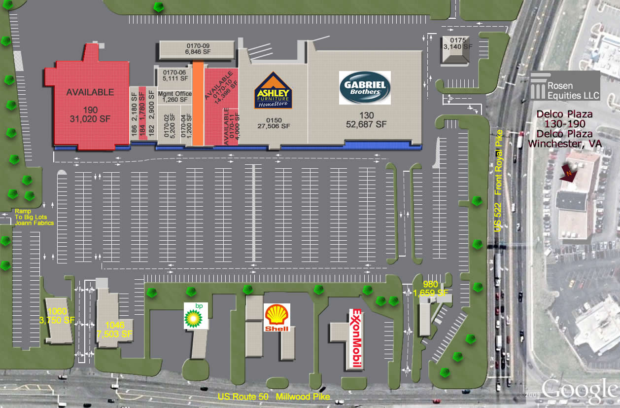 Winchester Delco Plaza Siteplan