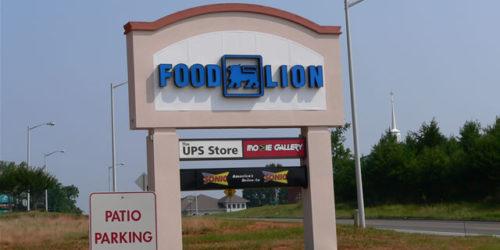 Mocksville Food Lion Center Pylon