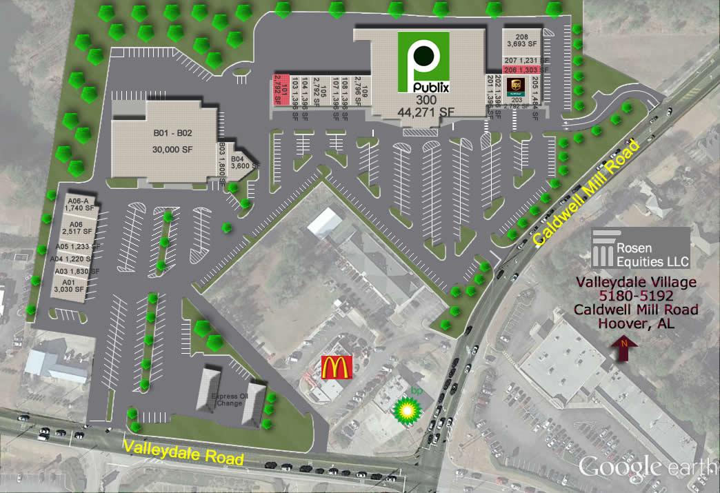 Valleydale Village Siteplan